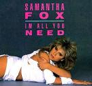 Samantha Fox:I'm All You Need