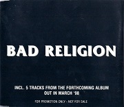 Bad Religion: Inc. 5 tracks from the forthcoming album